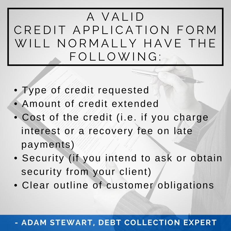 """debt collection expert"",""bad debt"",""credit application"""