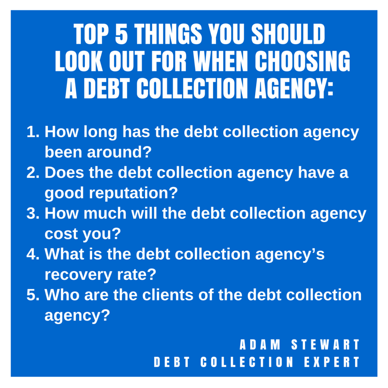 """debt collection"", ""debt collection agency"""