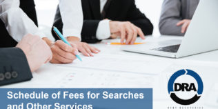 Schedule of Fees for Searches and Other Services - Debt Recoveries Australia